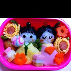 Hinamatsuri bento for Japanese doll's festival