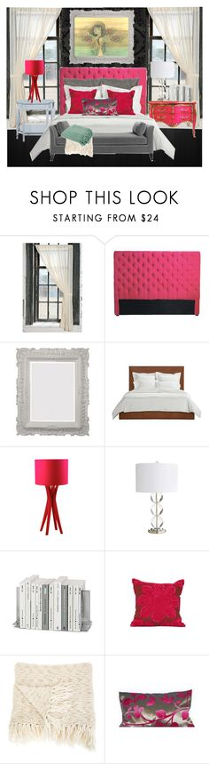 """""""Hot Pink Antique Bedroom"""" by kiley1 ❤ liked on Polyvore featuring interior, interiors, interior design, home, home decor, interior decorating, Nexus, Designers Guild, CHESTERFIELD and Kawasaki"""