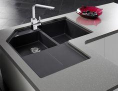 BLANCO METRA Corner Sink in Silgranit Anthracite