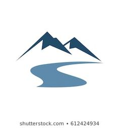 Mountain Vector with River Images, Stock Photos & Vectors - Suzanne Kennel-Nobile - Mountain Vector with River Images, Stock Photos & Vectors Mountain Vector Illustration Logo Template - Ski Drawing, Cloud Template, Design Art, Logo Design, Hotel Logo, Landscape Illustration, Stencil Designs, Presentation Design, Tattoo Designs Men