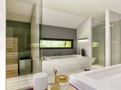 Lutz badezimmer  Badezimmer mit Dachschräge, Sauna und Glaswand | Bad | Pinterest ...