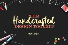 The Pixelo Handcrafted Design Toolkit has so many wonderful fonts and vectors that you will be amazed. One of my favorite Pixelo Bundles to date.