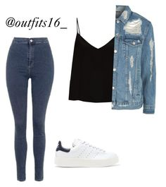 """Untitled #373"" by merywalls02 ❤ liked on Polyvore featuring Topshop, adidas Originals and Raey"