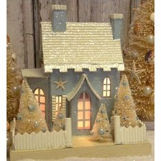 KD Vintage Christmas Beach Cottage III from Hayneedle.com Just beautiful and so nostalgic