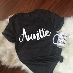 Auntie Unisex T-Shirt, Mom Unisex, S-2XL, Best Aunt Ever, Mama Shirt, Christmas Gift, aunt gift, Coffee Lover, Funny Shirt, Wife Gift by ShopatBash on Etsy