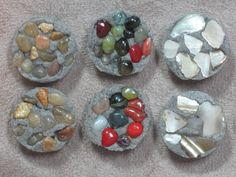 Cement and Stone Stepping stones for Fairy Gardens. 5.00