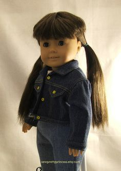 Jean Jacket for American Girl Dolls by SewPrettyPrincess on Etsy, $14.00