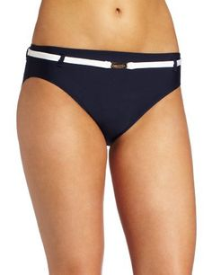 Nautica Women's Classic Solids Belted Retro Pant Nautica. $29.99. Hand Wash. Nautica logo engraved on front of belt. 84% Nylon/16% Spandex. Moderate coverage on front and back