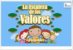"""La Escalera de los Valores"" (Convivencia en Educación Infantil) Peanuts Comics, Kakashi, Interactive Activities, Activities For Kids, Social Order, Core Values"