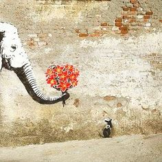 Lundi matin câlin #BanksyWeek #streetart by balibart