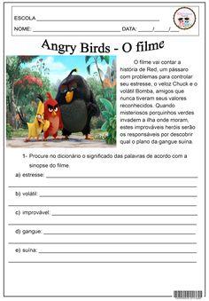 Angry Birds - O filme 4º E 5º ANO, FILME, INFERÊNCIA, INTERPRETAÇÃO, LÍNGUA PORTUGUESA, RACIOCÍNIO LINGUÍSTICO, USO DO DICIONÁRIO