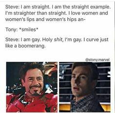 """i curve just like a boomerang"" Funny Marvel Memes, Marvel Jokes, Avengers Memes, Marvel Dc Comics, Stupid Funny Memes, Marvel Heroes, Hilarious, Stony Avengers, Superfamily Avengers"