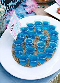These 29 Magical Mermaid Party Ideas will having you throwing your own fabulous mermaid themed party in no time. Get all of your mermaid party ideas here. Dolphin Birthday Parties, Dolphin Party, Mermaid Theme Birthday, Little Mermaid Birthday, 4th Birthday Parties, Birthday Ideas, Blue Birthday, Mermaid Themed Party, Hawaii Birthday Party