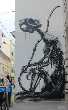 ROA brilliant graff artist