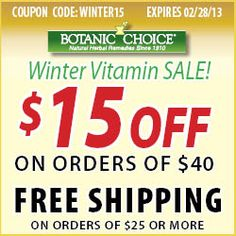Winter #Vitamin Sale! Use #Coupon Code: WINTER15 -- Take $15 off $40+ orders, plus get free shipping when you spend $25+. Valid on everything! Exp 2/28/13    http://www.planetgoldilocks.com/Vitamins.htm
