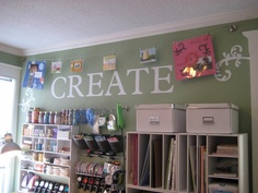 I NEED at craft room like this! @Kendall Ashley Lopez would appreciate this!!