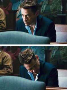 """Robert Downey Jr. and his superlative hair, in """"The Judge"""""""