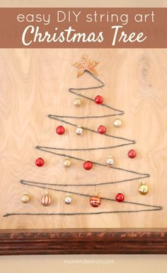 christmas tree DIY Christmas Crafts for 2015 - Yellow Bliss Road Diy Christmas Art, Christmas Cubicle Decorations, Simple Christmas, Holiday Crafts, Christmas Tree, Christmas Ornaments, Christmas Music, Diy Weihnachten, Do It Yourself Home