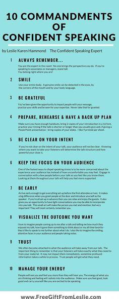 10 commandments of public speaking. 10 commandments of public speaking. Life Skills, Life Lessons, Public Speaking Tips, Improve Speaking Skills, Presentation Skills, Presentation Techniques, 10 Commandments, Startup, Business Intelligence