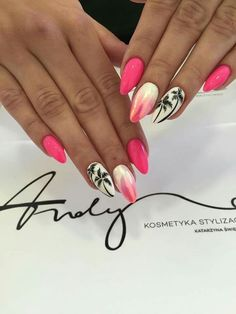 Marble acrylic nails Urlaub Nail design What to Include with Wedding Invitations Wedding invitations Marble Acrylic Nails, Summer Acrylic Nails, Best Acrylic Nails, Neon Nails, Swag Nails, Pink Nails, My Nails, Diy Ongles, Palm Tree Nails