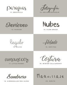 Aesthetic Fonts, Font Packs, Word Fonts, Bullet Journal Inspiration, Mood Boards, Paper Art, Doodles, Typography, Photoshop