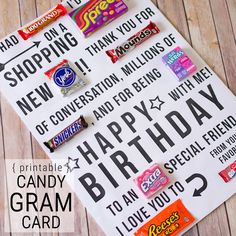 A Giant Birthday Card Candy Gram Pinned It