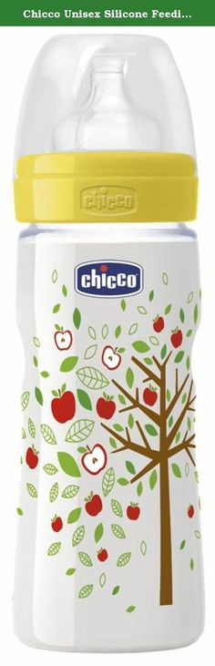 Chicco Unisex Silicone Feeding Bottle 330 ml / 11 oz Fast Flow 4m+. The Well-Being line is dedicated to lively mums who are full of energy, careful when choosing SAFE FEEDING BOTTLES but also keen on turning feed-times into an ENJOYABLE AND COLOURFUL occasion. The new Well-Being line stands out immediately thanks to the new Chicco packaging with double window, for the best emphasis on Chicco physiological teat and the brand new graphic design of the bottle.