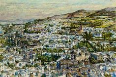 """Granada I,"" Shirl Goedike, 1979-1980, oil on canvas, 38 3/8 x 57 1/2"", private collection."