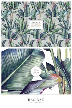 Tropical Pattern, Leaf Design, Beautiful Patterns, Home Textile, Print Patterns, Interior Decorating, Hand Painted, Watercolor, Wallpaper