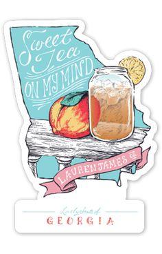 Georgia Sweet Tea Sticker