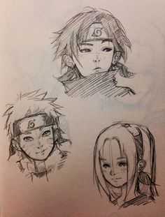 Anime Drawings Sketches, Anime Sketch, Cute Drawings, Naruto Sketch, Naruto Drawings, Arte Sketchbook, Anime Poses Reference, Cartoon Art Styles, Naruto Art