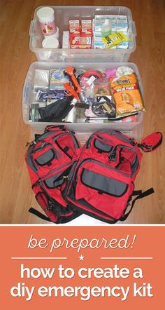 Be Prepared! How to Create a DIY Emergency Kit | thegoodstuff #survivalkit
