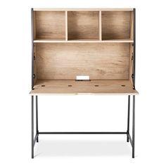 Darley Secretary Desk - Vintage Oak - Threshold™ : Target (For family desktop computer area in living room)