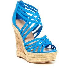 Charles By Charles David Gina Wedge Sandal ($45) ❤ liked on Polyvore