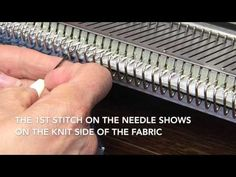 Hand Manipulated Stitches for Machine Knitters Lengthing Techniques Bridging YouTube 360p - YouTube