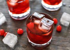 Cherry Whiskey Smash  - Jack Daniels, cherry juice, amaretto, brandy, cherry cola & maraschino cherries