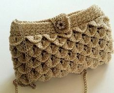 free pattern - Ravelry: Shimmery Evening Bag ...can adapt and use Bernat's Mermaid Tears free pattern
