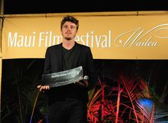 Actor Garrett Hedlund accepts the Rising Star Award at the 2011 Maui Film Festival at the Celestial Cinema on June 17, 2011 in Wailea, Hawaii.