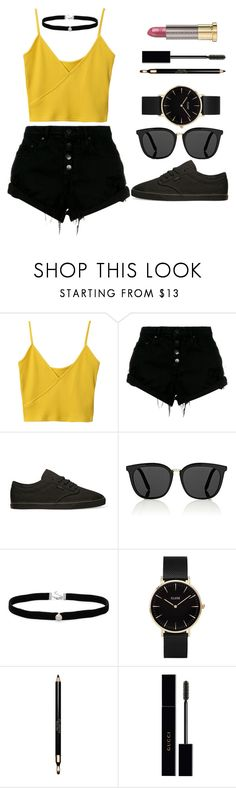 """""""It's Sunday and Thanksgiving Break!!"""" by may-boo ❤ liked on Polyvore featuring Nobody Denim, Vans, Victoria Beckham, Amanda Rose Collection, CLUSE, Clarins, Gucci and Urban Decay"""