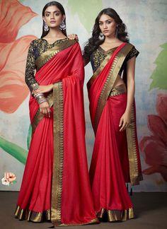 Art Silk Reception Designer Traditional Saree Art Silk Sarees, Sari, Unique, Red, Collection, Fashion, Saree, Moda, Fasion