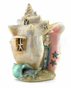 Seashell theme fairy house