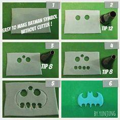 Batman logo fondant tutorial