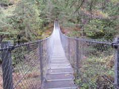 Nanaimo has a suspension bridge? Hi everyone, Amanda here! I have a secret to share with you. Not too many people know that Nanaimo has a suspension bridge. It is one of our best kept … I Have A Secret, Suspension Bridge, Brooklyn Bridge, British Columbia, Tourism, Explore, Travel, Amanda, Fitness