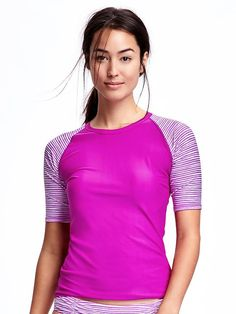 1f359396f0cf0 Short-Sleeve Rashguard Rash Guard Women, Shop Old Navy, Swim Shop, Maternity
