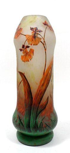 325: Daum Nancy Art Glass Vase