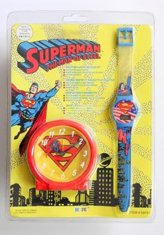 1994 DC Comics Superman Collectable Clock and Watch Set: $5.99 End Date: Wednesday Apr-11-2018 19:42:40 PDT Buy It Now for only: $5.99 Buy…