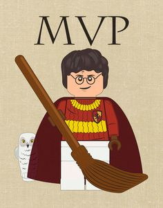 Minifigure Inspired Art Print MOST VALUABLE PLAYER. by Bricklandia