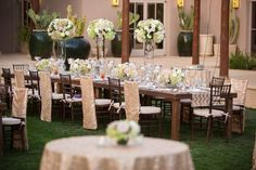 Banquet or Wedding table set up