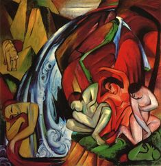 Franz Marc    The waterfall, 1912    canvas, oil