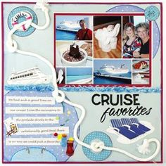 Cruise Favorites Travel Scrapbook Page - Image 1